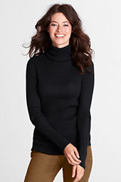 Women's Long Sleeve Merino Rib Turtleneck