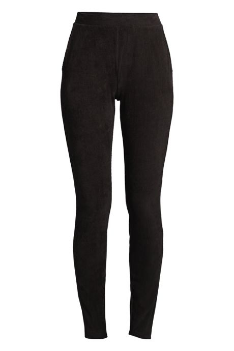Women's Petite Sport Knit Corduroy Leggings