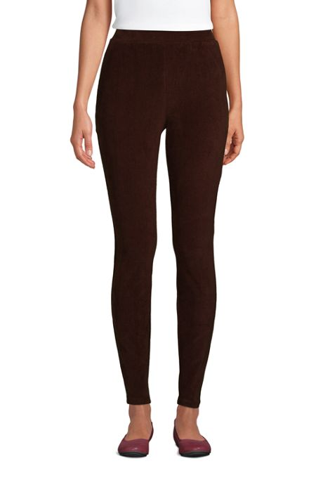 Women's Petite Sport Knit High Rise Corduroy Leggings