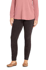 Women's Plus Size Petite Sport Knit Corduroy Leggings
