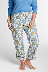 Women's Plus Size Cotton Convertible Sleep Pants