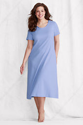 Women's Plus Size Short Sleeve Satin Trim Supima Sleep-T