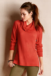 Women's Merino Wool Raglan Turtleneck