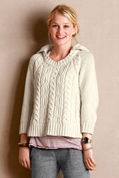 Women's Cable Knit Hooded Sweater