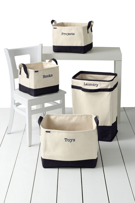 School Uniform Canvas Hamper