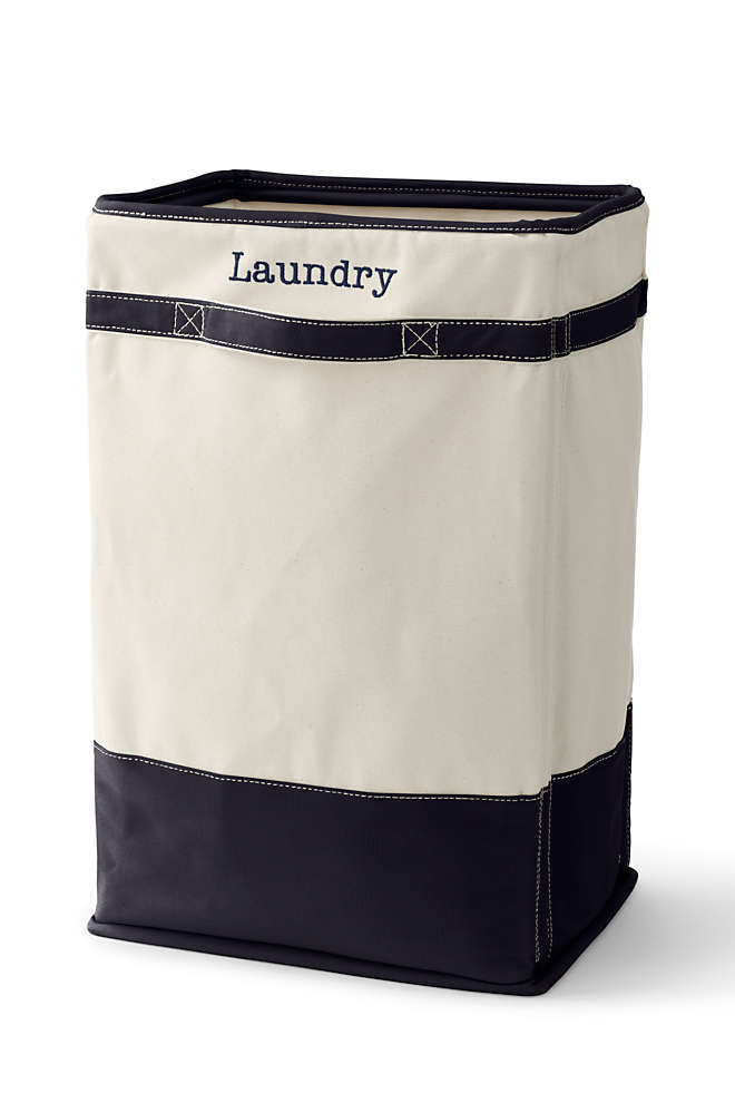 Canvas Laundry Hamper, Front