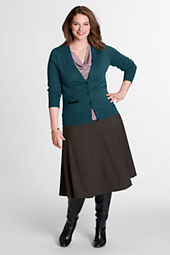 Women's Plus Size Gored Washable Wool Skirt