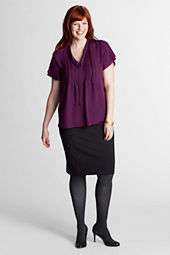 Women's Plus Size Ponté Skirt