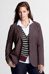 Women's Plus Size 2-button Blazer