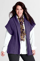 Women's Plus Size Feel Better Shawl Drape Cardigan