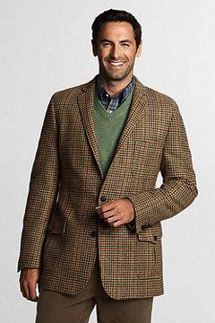 Tweed Houndstooth Sportcoat 421296: Tan Multi