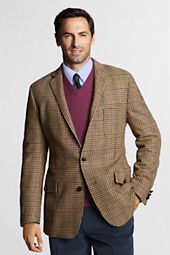 Men's Traditional Fit Tweed Houndstooth Sportcoat