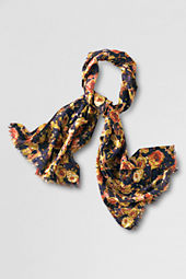 Women's Cotton Wool Floral Scarf