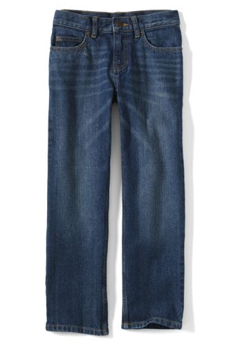 Boys' Slim Classic Fit Iron Knee  Jeans - Classic Wash, 18
