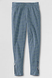 Girls' Stripe Ankle Zip Leggings