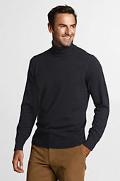 Men's Solid Merino Wool Turtleneck Sweater