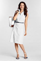 Women's Sleeveless Poplin Dress