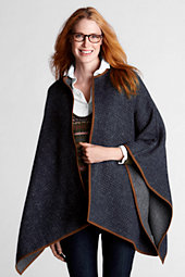 Women's  Reversible Tweed Cape