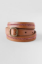 Girls' Beaded Leather Belt