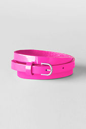 School Uniform Girls' Shiny Skinny Belt