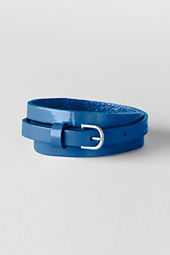 Girls' Shiny Skinny Belt