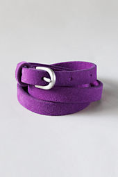 Girls' Suede Leather Skinny Belt