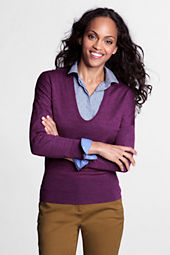 Women's Long Sleeve Drop Shoulder Merino Scoopneck Sweater