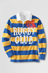 Boys' Long Sleeve Club Stripe Rugby