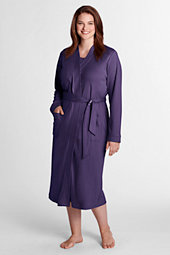 Womens Plus Supima® Dressing Gown