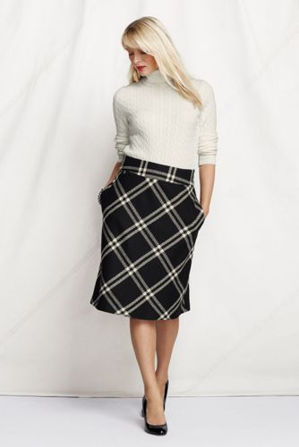 Fischgrät-Wollrock für Damen