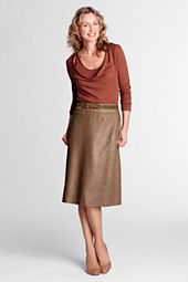 Women's Herringbone A-line Skirt