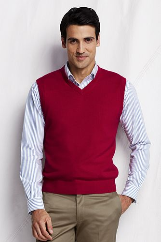 Cashmere Sweater Vest 421220: Rich Red