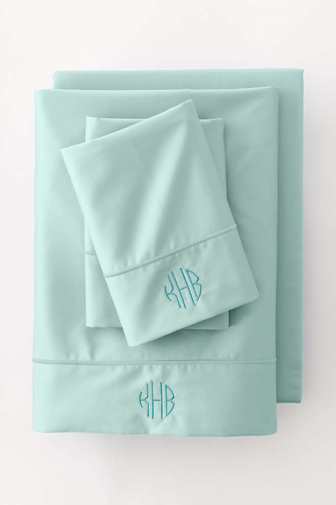 Supima Cotton No Iron Sateen Pillowcases - 400 Thread Count, Front