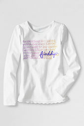 Girls' Long Sleeve Eyelet Trim Friendship Graphic T-shirt