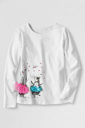 Girls' Long Sleeve Dancing Bunny Graphic T-shirt