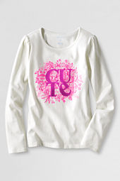 Girls' Long Sleeve Cute Graphic T-shirt