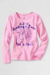 Girls' Long Sleeve Ballet Graphic T-shirt