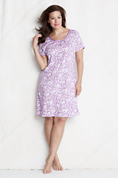 Women's Print Knee-length Sleep-T