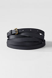 Women's Plus Size Triple Wrap Leather Belt