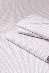 200-count Percale Printed Zigzag Bedding