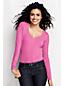 Langarm-Shirt mit V-Ausschnitt aus Baumwoll-Viskose-Mix für Damen