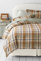6-oz Flannel Oak Park Plaid Duvet Cover or Sham