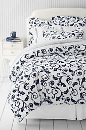 Tailored Hotel Scroll Print Duvet Cover