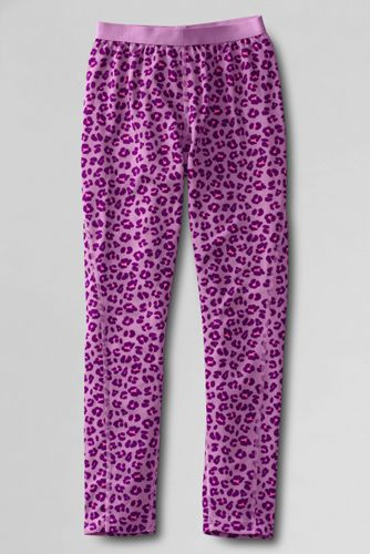 Little Girls' Print Thermaskin Heat Midweight Thermal Pants