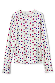 Girls' Print Thermaskin Heat Midweight Crew Top