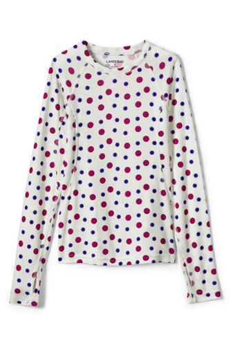 Little Girls' Print Thermaskin Heat Midweight Crew Top