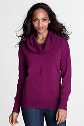 Women's Fine Gauge Supima Cable Cowl Sweater