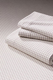 5-oz Flannel Windowpane Sheet Set or Pillowcase