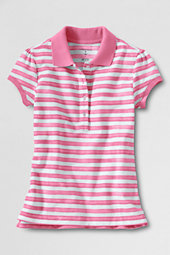 Girls' Cap Sleeve Vintage Stripe Piqué Polo