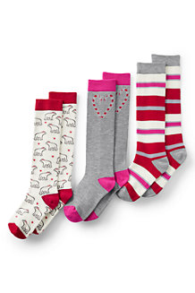 Girls' Pattern Knee-High Socks